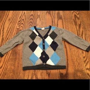 H&M 1.5-2 year argyle cardigan sweater